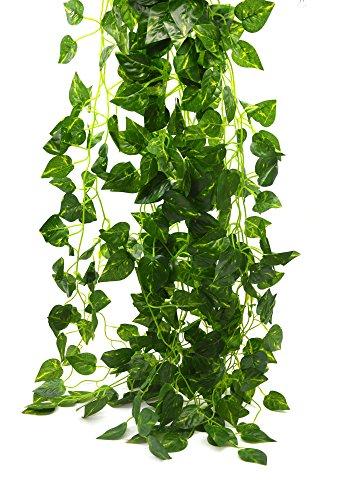 Bird Fiy 78 Ft-12 Geld-Anlage Künstliche Fälschung Hängende Rebe Pflanze Blätter Garland Haus Garten-Wand-Dekoration